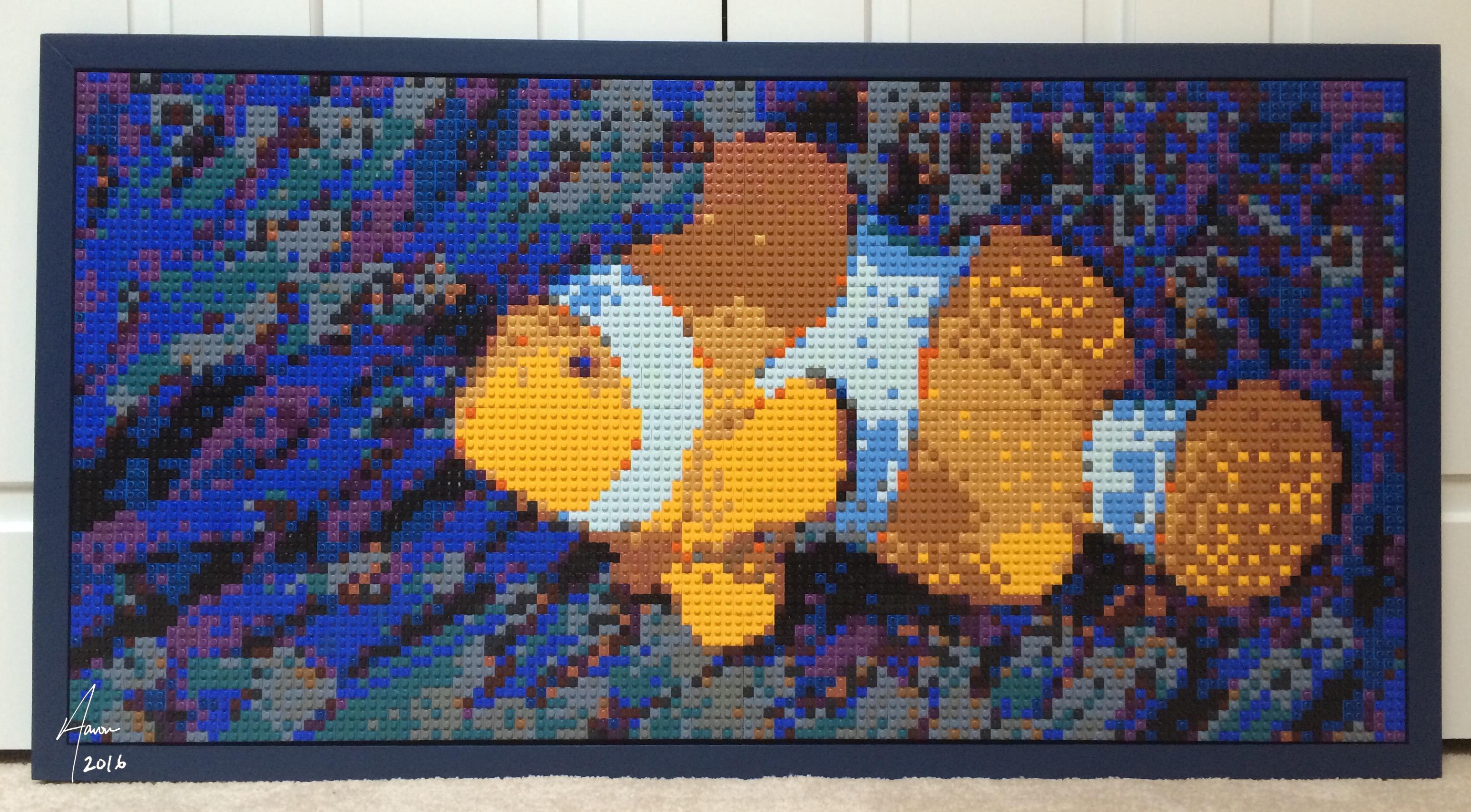 Clownfish & anemone LEGO mosaic
