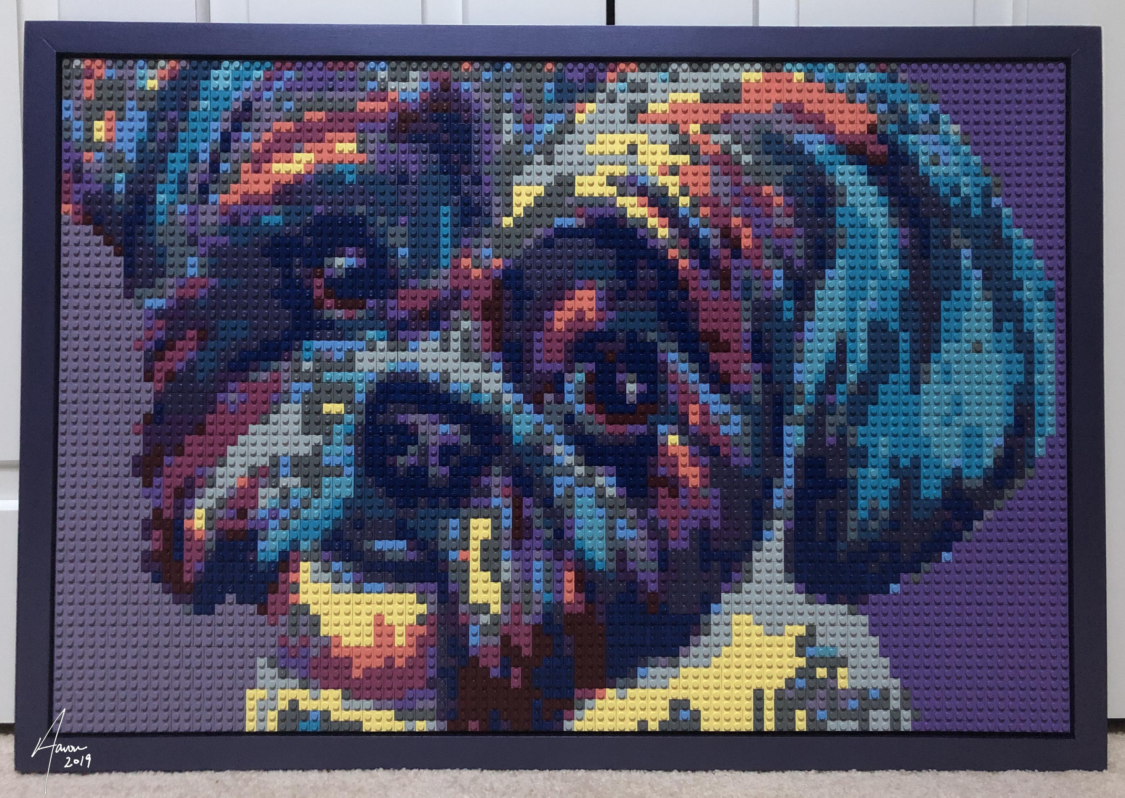 Shih-Tzu LEGO mosaic