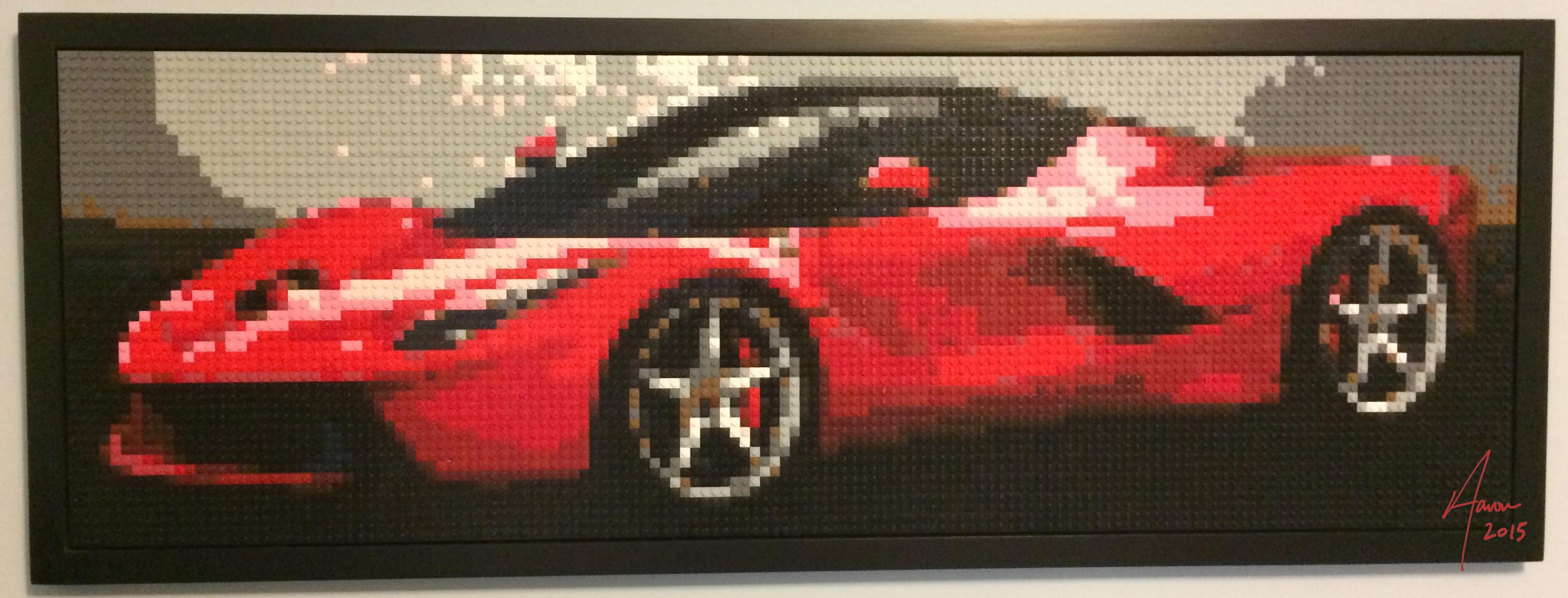 La Ferrari LEGO mosaic