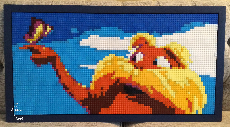 The Lorax LEGO mosaic