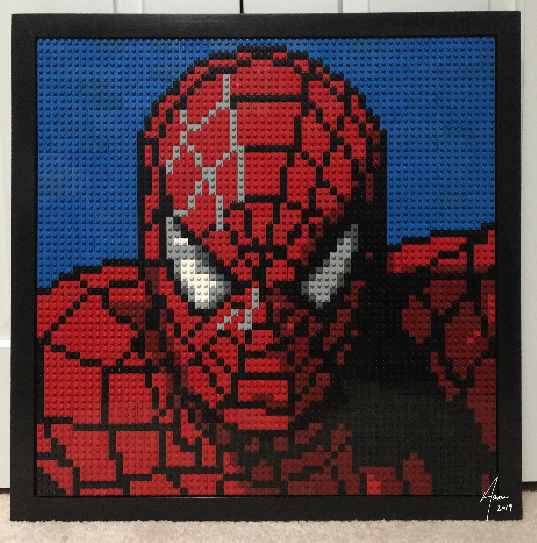 Spider-Man LEGO mosaic