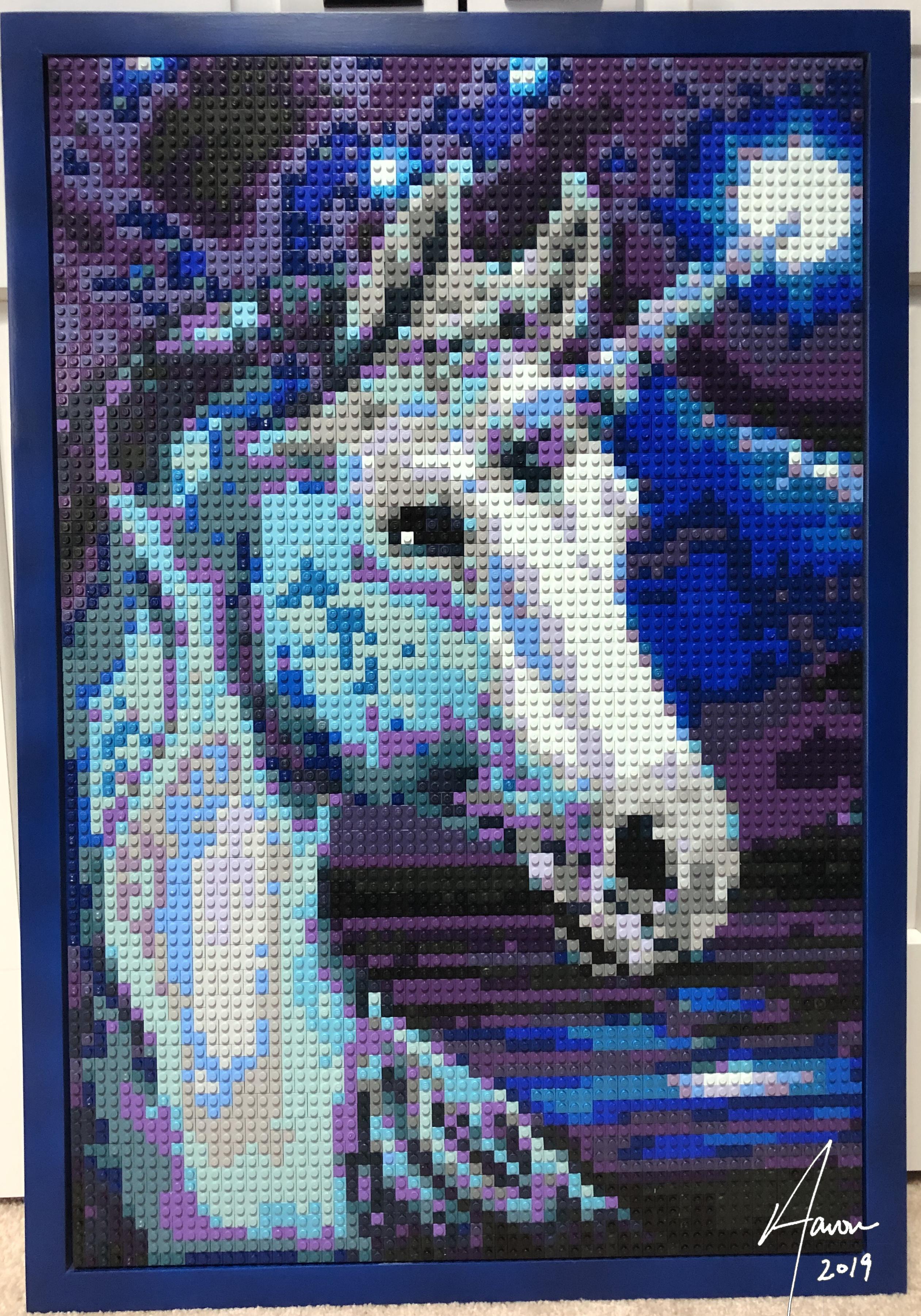 Unicorn LEGO mosaic