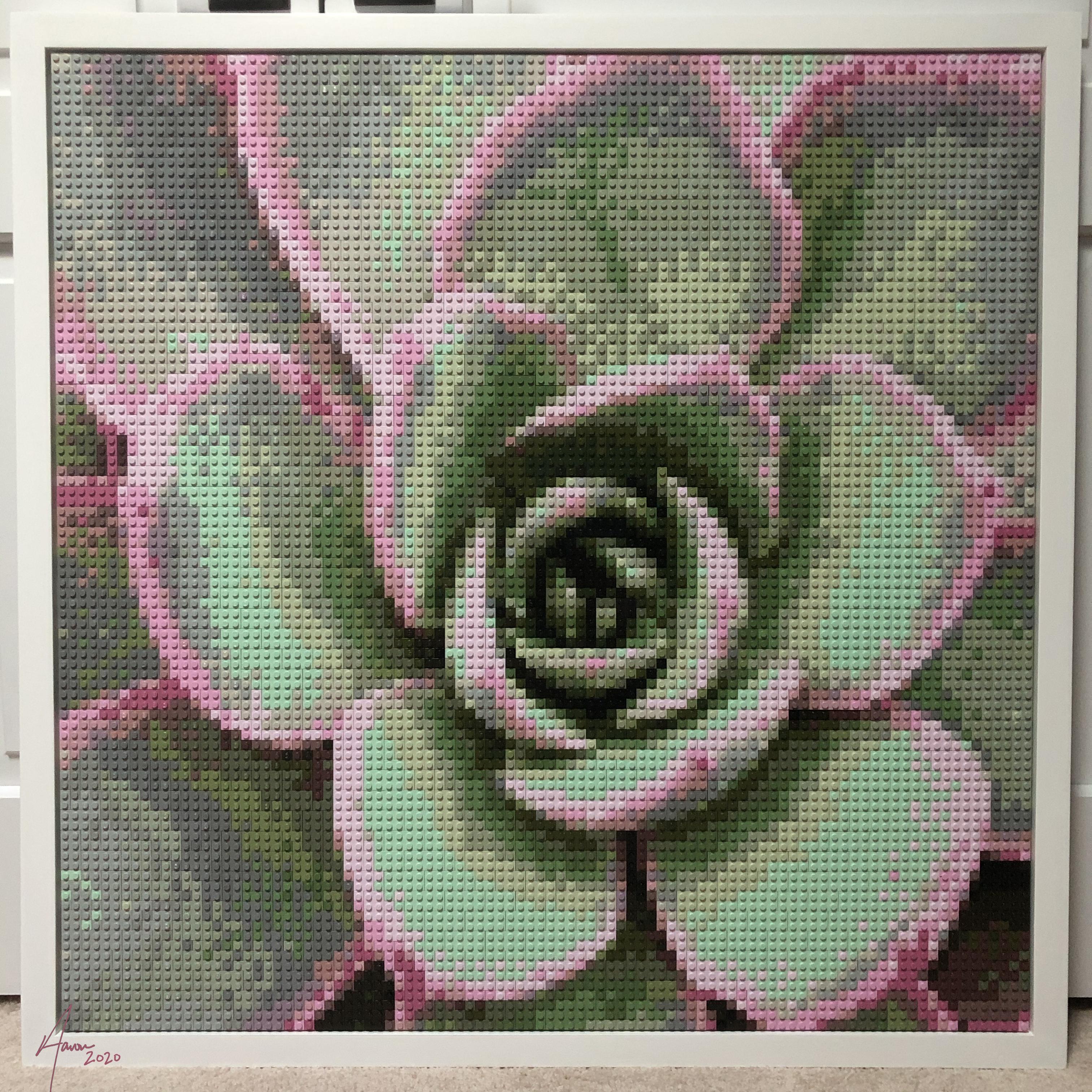 Succulent LEGO mosaic